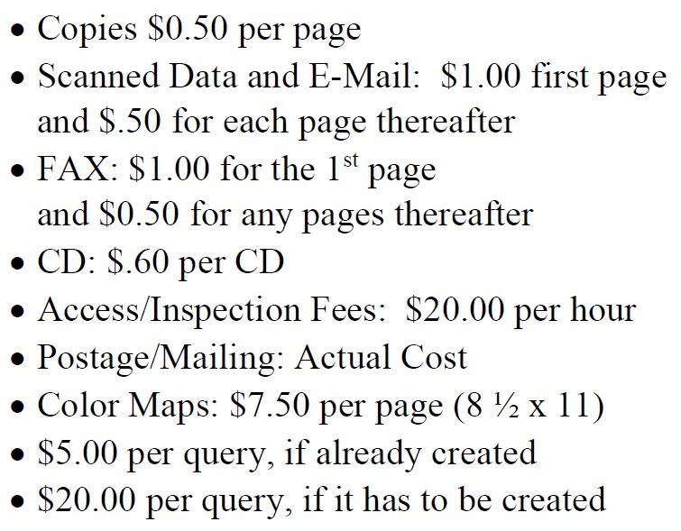 Appraiser Copy Fee Schedule for 2019